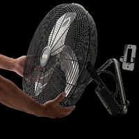Industrial High Max Velocity Floor Fan w Remote Turbo Force Quick Wall Mount