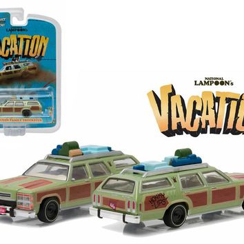"1979 Family Truckster \Wagon Queen"" Honky Lips Version \""National Lampoon\'s Vacation\"" Movie (1983) 1/64 Diecast Model Car by Greenlight"""