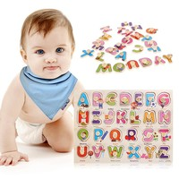 Montessori Wooden Puzzle Educative Toys Early Educational Alphabet Toy for Kid Birthday Gift Letters&Numbers Matching Puzzle Toy