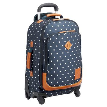 NORTHFIELD NAVY DOT CARRY-ON SPINNER