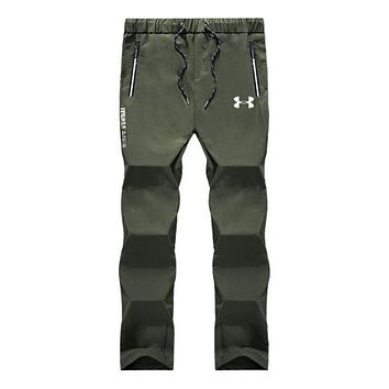 """Under Armour"" Popular Men Casual Print Sport Pants Trousers Sweatpants Army Green I13888-1"