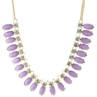 Purple Jeweled Statement Collar Necklace by Charlotte Russe