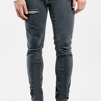 Men's Topman Ripped Stretch Skinny Fit Jeans ,