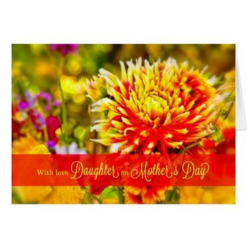 For Daughter on Mother's Day - Bright Wild Flowers Card