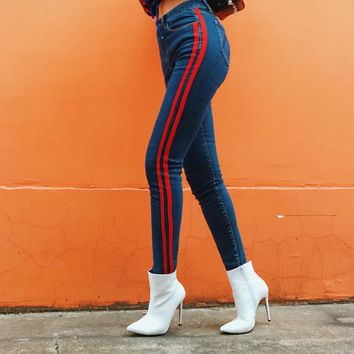Red Stripped Jeans