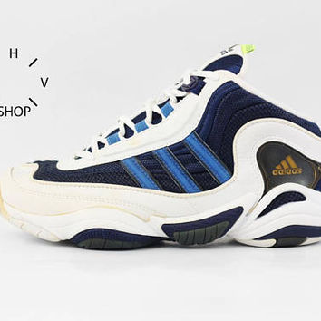 NOS 1998 Adidas Equipment Fix Fitness sneakers / Deadstock Unisex Trainers / EQT Feet You Wear basketball kicks hi tops / Made in China 90s