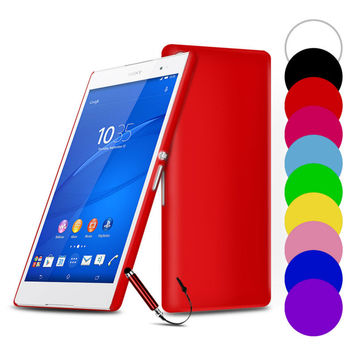 Slim Hard Back Phone Cases For Sony Xperia Series XA Z3 compact Z2 Z5 M2 M4 Aqua M5 E4G Z3 C3 C4 C5 C6 Cover Tempered Glass