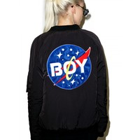 BOY SPACE BOMBER JACKET