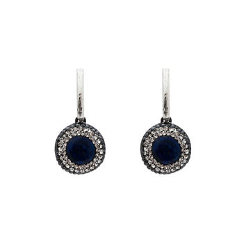 Blue Lapis Silver Drop Earrings