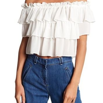 WAYF | Toulon Tiered Ruffle Top | Nordstrom Rack