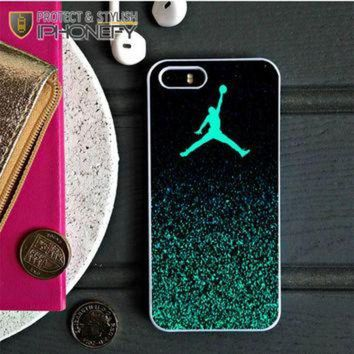 CREYUG7 Nike Air Jordan Jump Mint Glitter iPhone 5C Case|iPhonefy