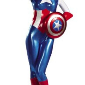 Disguise Marvel Captain America American Dream Bodysuit Womens Adult Costume:Amazon:Clothing