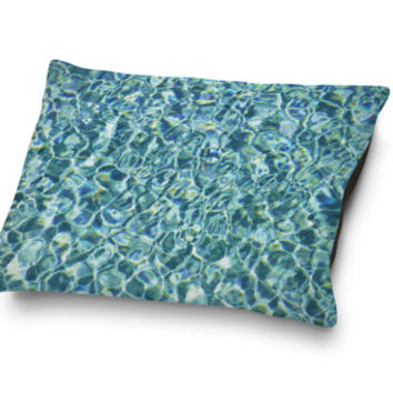 Pool Water - Pet Bed, Swimming Pool Water Design Pet Style Bedding, Crystal Blue Beach Surf Style Home Decor Accent. In 18x28 30x40 40x50