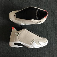"Air Jordan 14 Retro ""Desert Sand"" Desert Sand/Black-White-Infrared 23 AJ14 Sneakers - Best Deal Online"