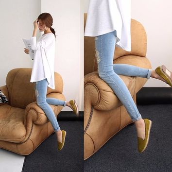 Puseky Jeans Maternity Pants For Pregnant Women Clothes Trousers
