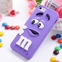 M&M's Silicone Case For APPLE IPHONE 5C (Violet)