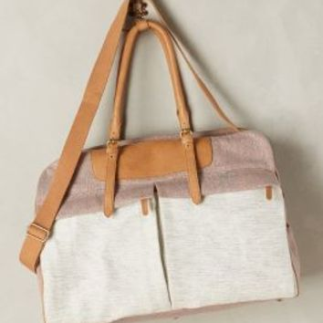 Jasper & Jeera Vatersay Weekender in Grey Motif Size: One Size Bags