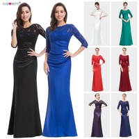 Evening Dresses Ever Pretty 09882 Long Autumn Style Elegant Sleeve Lace 2018 vestidos de noche con mangas Formal Evening Dresses