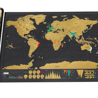 Art World Map, Deluxe Scratch