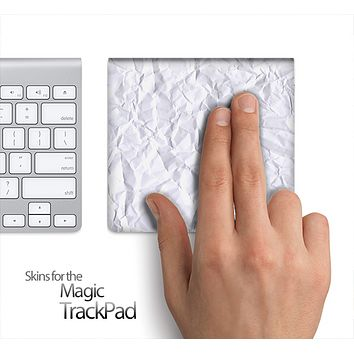 Crumpled White Paper Skin for the Apple Magic Trackpad