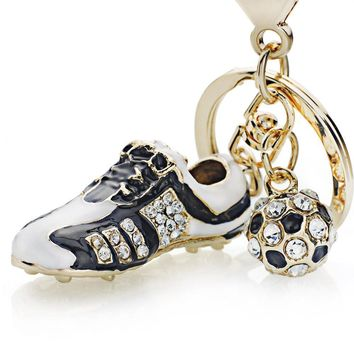 Golden Shoe Keychain For Champions