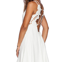 Free People Cha Cha Ponte Like A Dream Dress in Cream