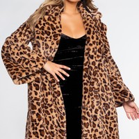 Girls Night Meowt Leopard Coat
