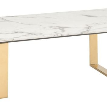 Atlas Coffee Table Faux Marble & Gold