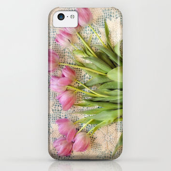 Vintage Tulips iPhone & iPod Case by Lisa Argyropoulos | Society6