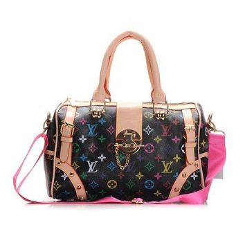 Louis Vuitton LV Fashion Leather Travel luggage Tote Handbag Satchel Shoulder Bag-2