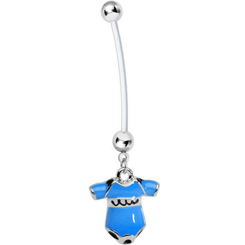 Blue Cute Onesuit Pregnancy Belly Ring