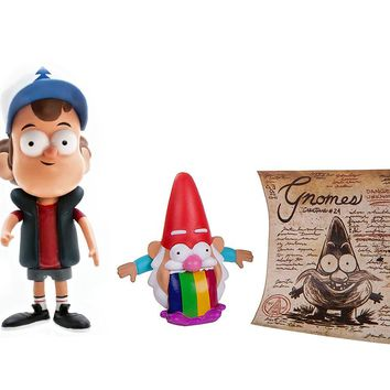 "Barfing Gnome & Dipper Pines Gravity Falls 2 Pack Loose 3"" Action Figure FREE SHIPPING GIFT TOY"