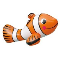 Blue Wave Clown Fish Inflatable Ride-On Pool Toy, 67""