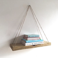 Handmade Hanging Shelf, Rustic Decor, Beach Decor, Reclaimed Wood, Home Decor, Repurposed, Wood, Furniture, Book Shelf, Floating Shelf
