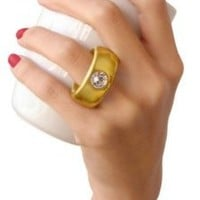 Fred & Friends 2-CARAT CUP Solitaire Ring Mug, Gold