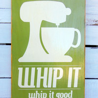 Typography Wall Art Whip It Wood Sign by 13pumpkins on Etsy