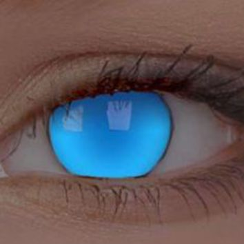 UV  Electric Blue Contact Lenses, UV Blue Contacts | EyesBright.com