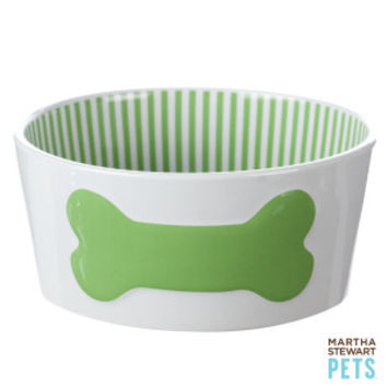 Martha Stewart Pets® Bone Crock Dog Bowl