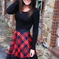 Sweet Cinnamon Plaid Dress