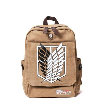 Attack On Titan School  Backpack Anime Printing
