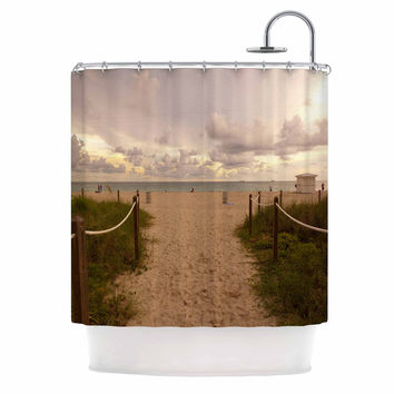 "Rosie Brown ""Walkway To Heaven"" Coastal Photography Shower Curtain"