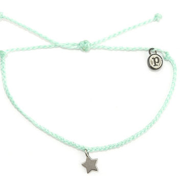 Silver Bitty Star Seafoam