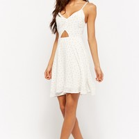 Cutout Polka Dot Homecoming Dress