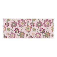 "Nika Martinez ""Romantic Flowers in Pink"" Blush Floral Bed Runner"