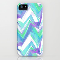 Ocean Summer Chevron iPhone & iPod Case by Ally Coxon