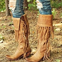 All About Fringe Boots
