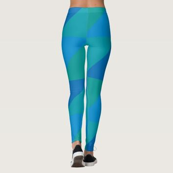 triangle colored abstract leggings
