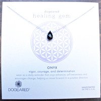 dogeared healing gem onyx pendant necklace