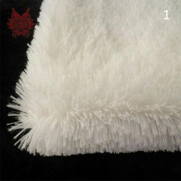 High quality Plush Faux Fur Fabrics material off white colors for diy baby blanket womens coat free shipping SP531