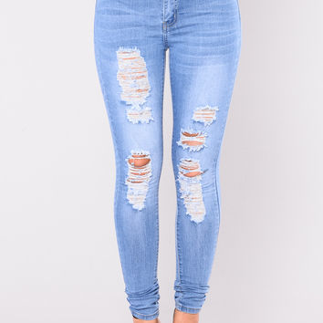 My Mine High Rise Jeans - Light Blue Wash